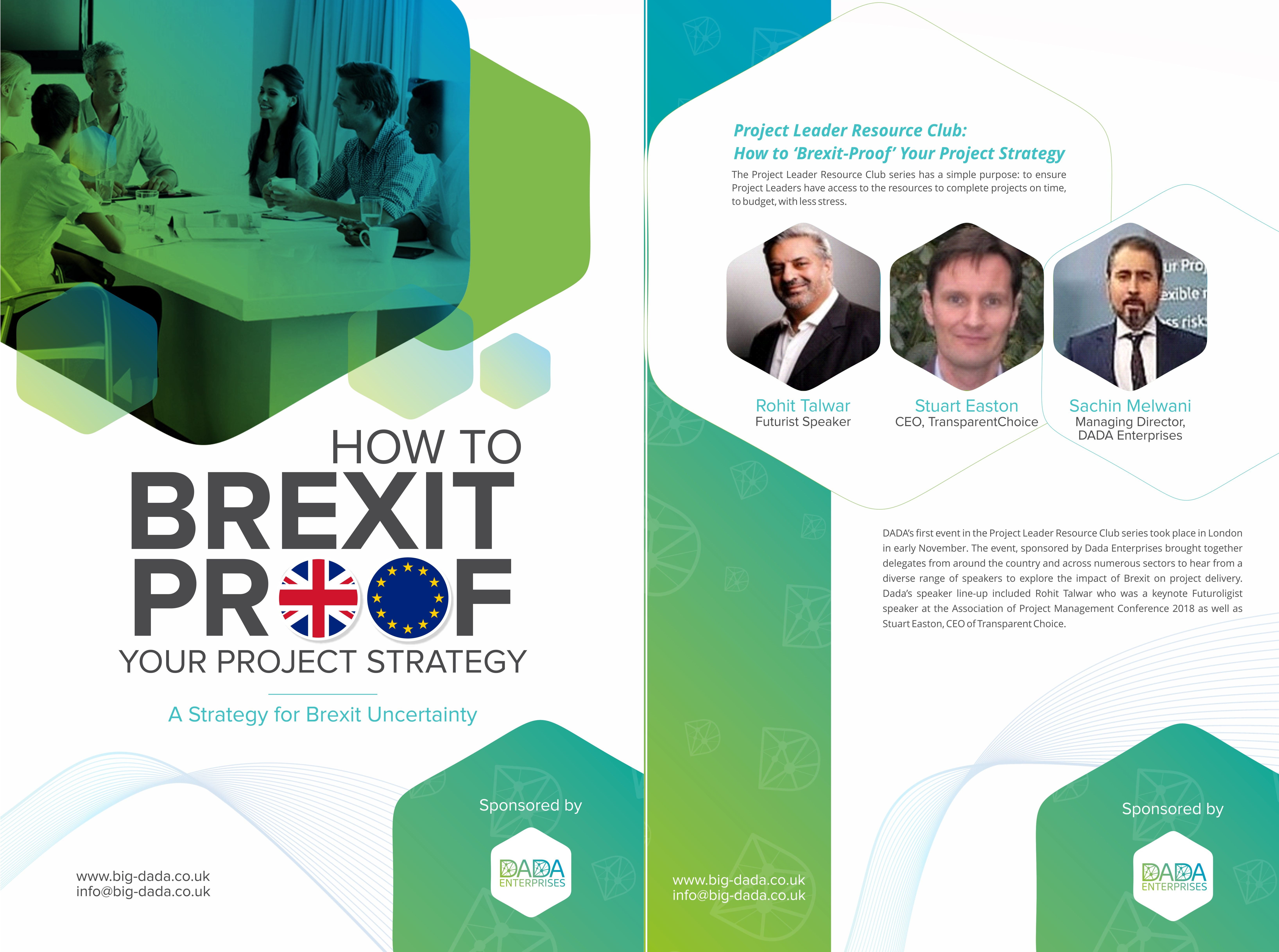 Consultancy.uk Features Dada And Our E-book To Help Leaders 'Brexit-proof' Their Project Strategy