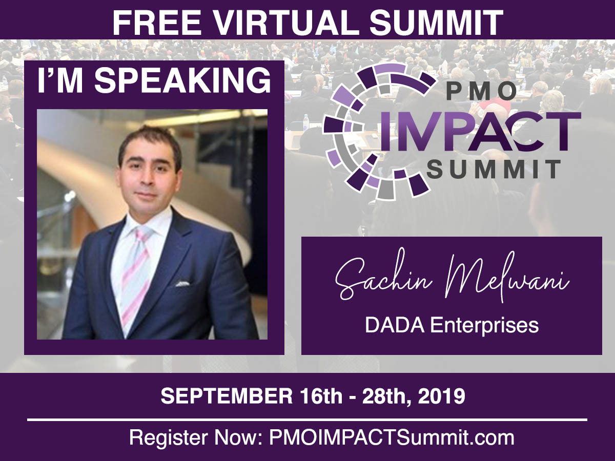 "DADA's MD, Sachin Melwani Will Be Presenting ""Cost Control, Project Control: Get The Right Management"" At The PMO Summit"