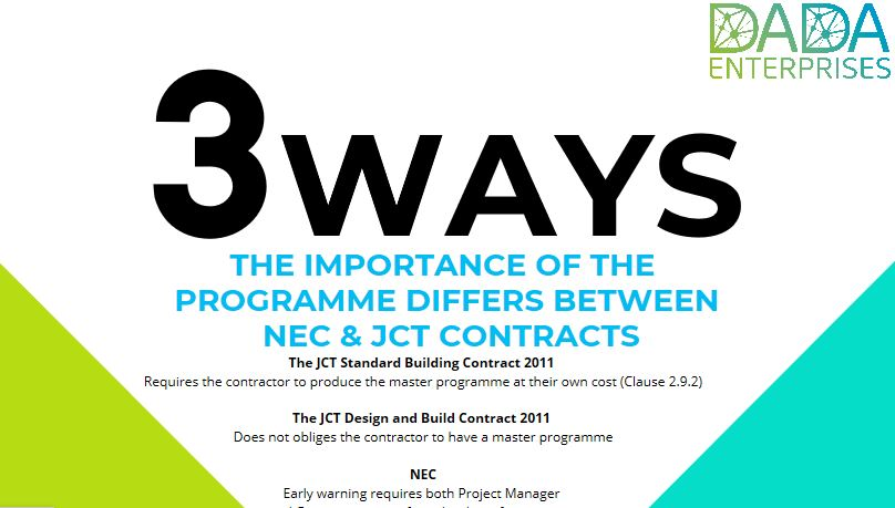 3 Ways The Importance Of The Programme Differs Between NEC & JCT Contracts