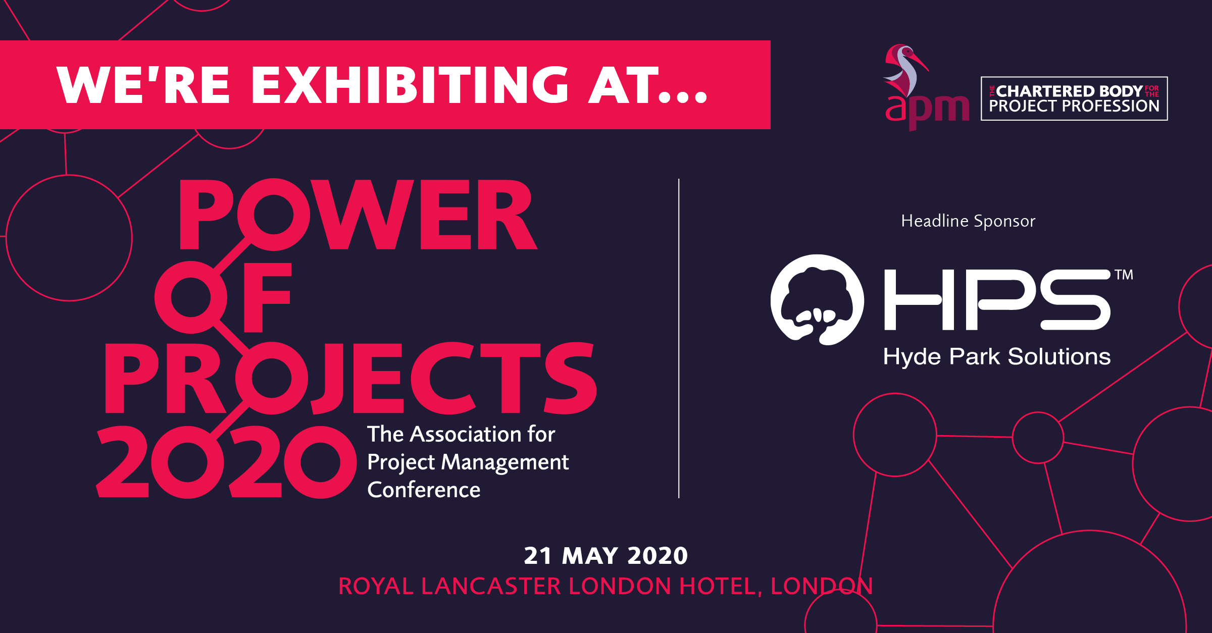 DADA Exhibiting At Association Of Project Management (APM) Power Of Projects Conference
